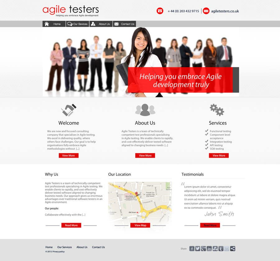 Kilpailutyö #9 kilpailussa Redesign our company website