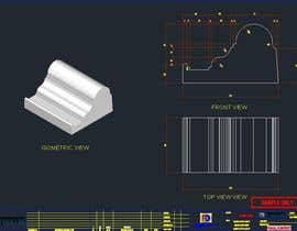 #10 untuk Cad drawings for each shape with title block and 3d render of shape oleh patpat79