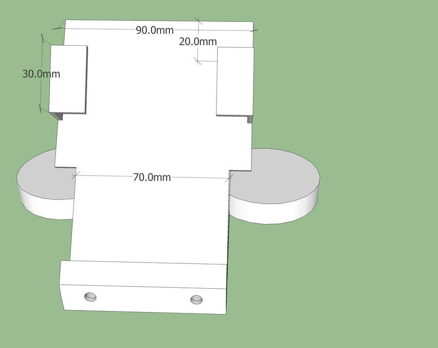 Bài tham dự cuộc thi #1 cho 3D modeling / Redesign for Car cradle