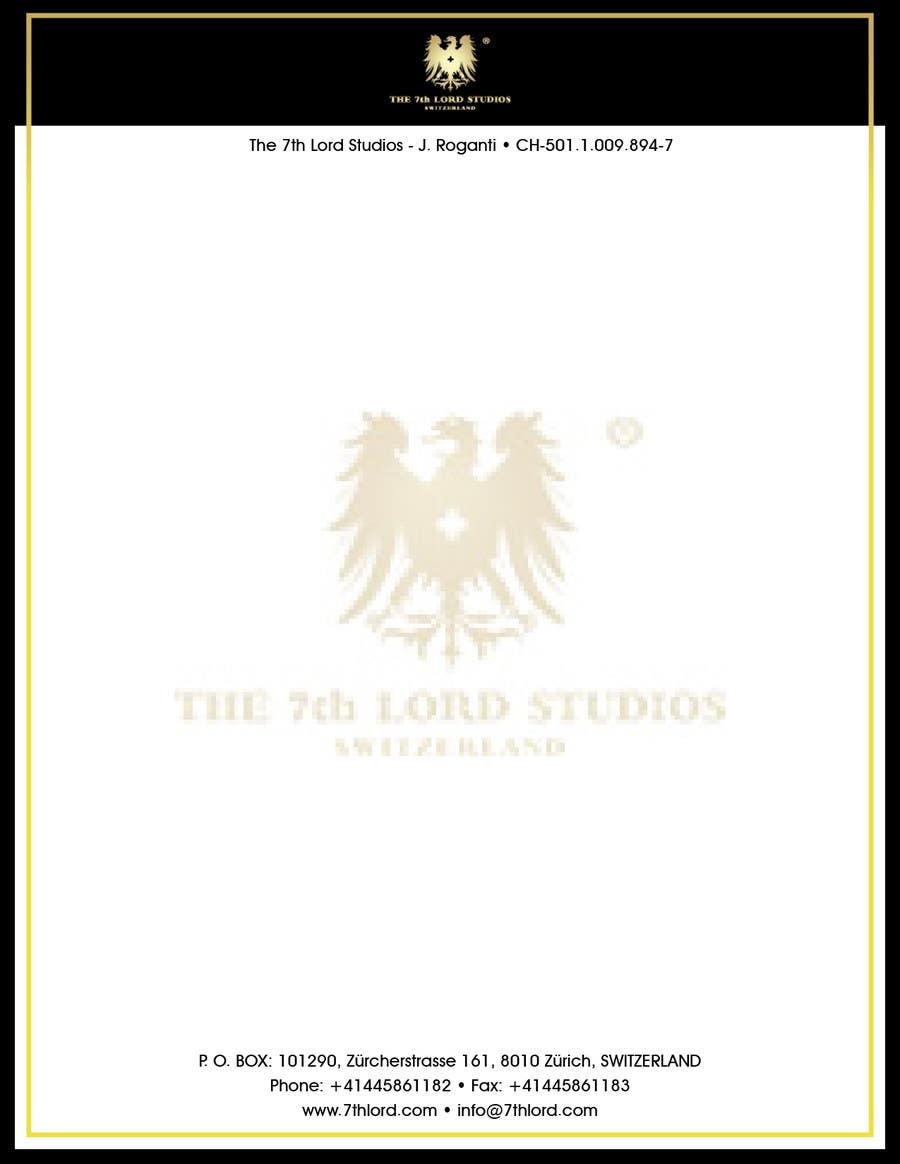 Kilpailutyö #38 kilpailussa Letterhead paper for The 7th Lord Studios