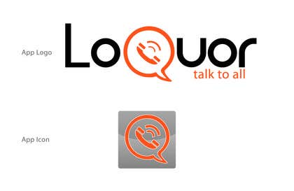 "#56 for Design a Logo for a mobile application ""Loquor"" by mekuig"