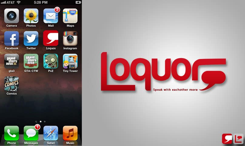 "#14 for Design a Logo for a mobile application ""Loquor"" by iconart"