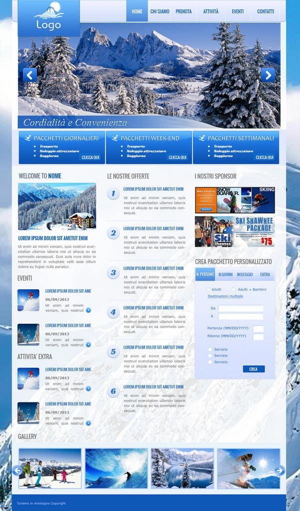 Bài tham dự cuộc thi #                                        12                                      cho                                         Disegnare la Bozza di un Sito Web for: offerte soggiorni (con attività) in località turistica di montagna
