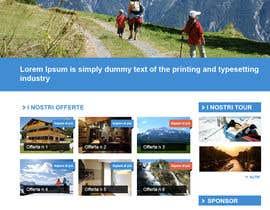 Nro 11 kilpailuun Disegnare la Bozza di un Sito Web for: offerte soggiorni (con attività) in località turistica di montagna käyttäjältä AymanBadaoui