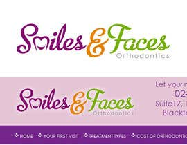 #80 for Design a Logo for Smiles & Faces Orthodontics by suneshthakkar