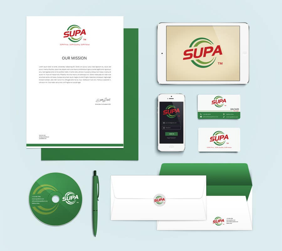 #24 for Develop a Corporate Identity for SUPA brand by pankaj86