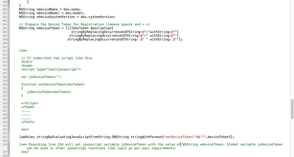 Bài tham dự cuộc thi #                                        3                                      cho                                         Send Objectiv-C data to javascript var