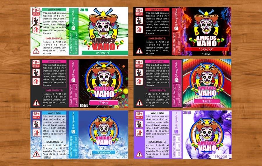Contest Entry 10 For E Juice Label Design