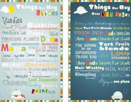 nº 16 pour Whimsical Nursery Posters - Text-Based (Text Provided) par binas
