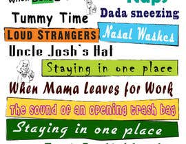 #20 untuk Whimsical Nursery Posters - Text-Based (Text Provided) oleh elgopi