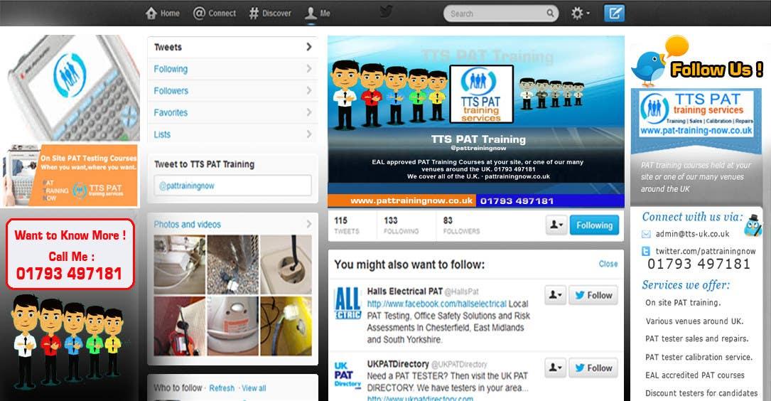 Inscrição nº                                         8                                      do Concurso para                                         Design a Twitter background for me