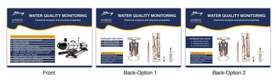 Конкурсная заявка №37 для Flyer for water quality monitoring devices