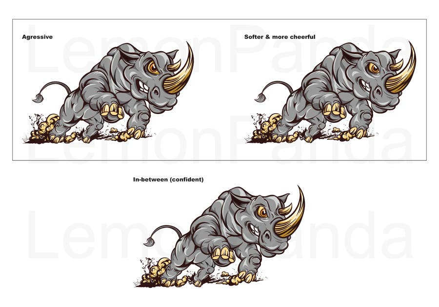 Contest Entry #19 for Illustrate Something for Charging Rhino