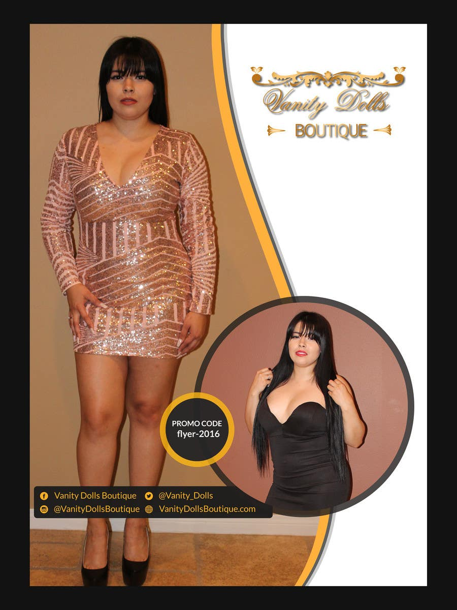 Contest Entry #                                        10                                      for                                         Online Clothing Boutique Flyer VANITY DOLLS BOUTIQUE