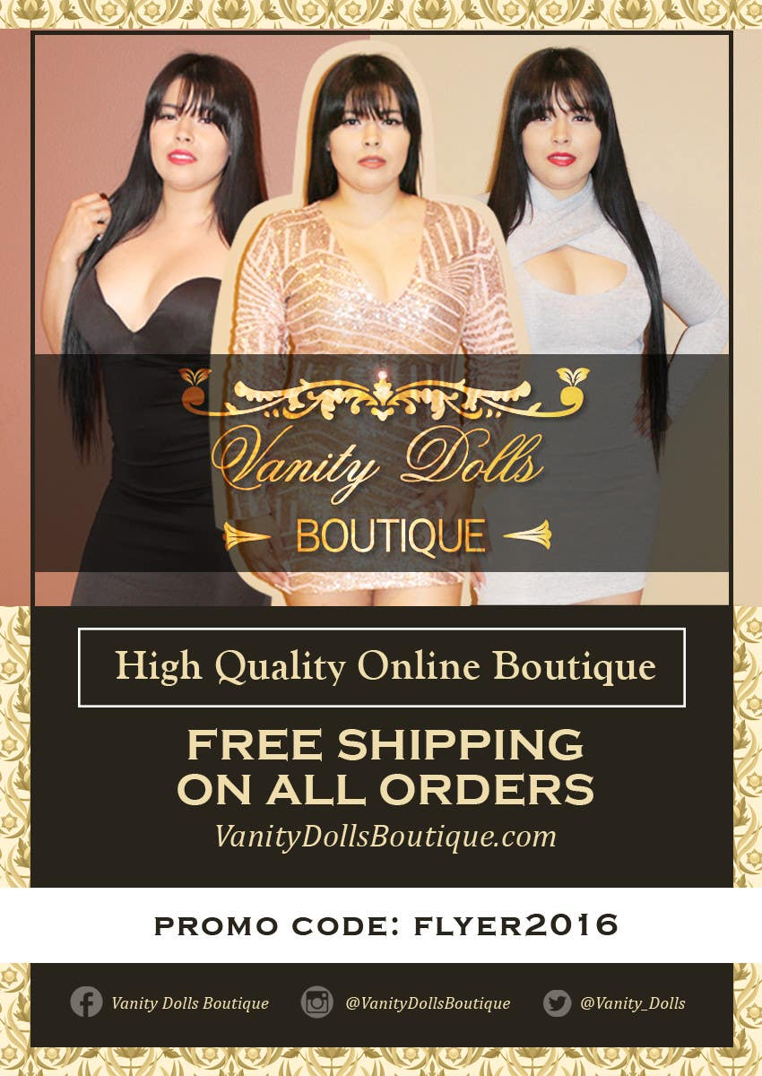 Contest Entry #                                        13                                      for                                         Online Clothing Boutique Flyer VANITY DOLLS BOUTIQUE