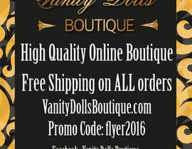#2 for Online Clothing Boutique Flyer VANITY DOLLS BOUTIQUE by cfoxfreelance