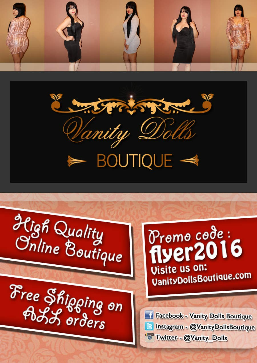 Contest Entry #                                        4                                      for                                         Online Clothing Boutique Flyer VANITY DOLLS BOUTIQUE