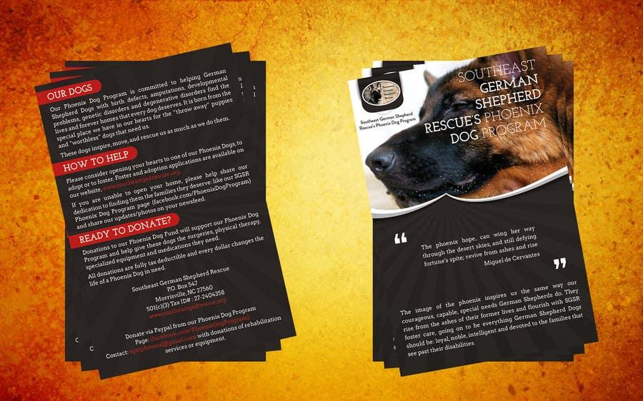 Inscrição nº                                         11                                      do Concurso para                                         Design a Brochure for Southeast German Shepherd Rescue's Phoenix Dog Program