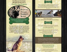 #7 for Design a Brochure for Southeast German Shepherd Rescue's Phoenix Dog Program by Mimi214