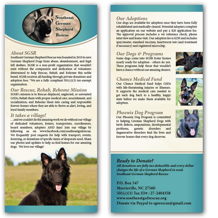Design a Brochure for Southeast German Shepherd Rescue için 4 numaralı Yarışma Girdisi