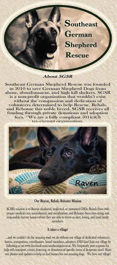 Design a Brochure for Southeast German Shepherd Rescue için 6 numaralı Yarışma Girdisi