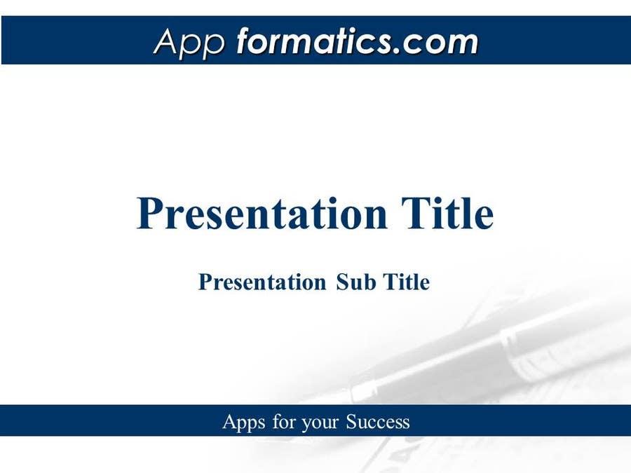 Inscrição nº 24 do Concurso para Develop a Powerpoint Template