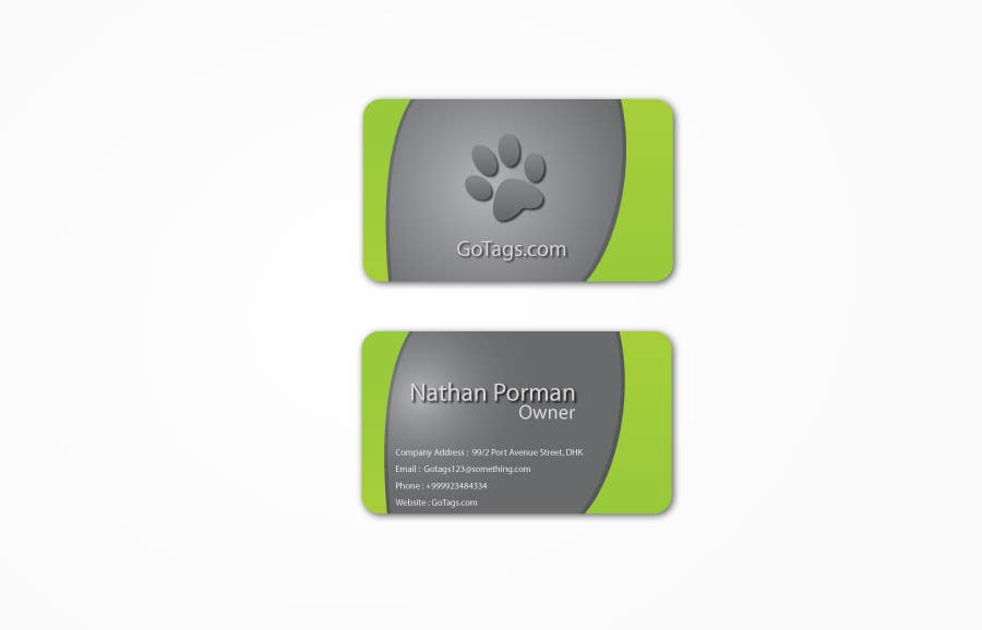 Конкурсная заявка №46 для Business Card Design for GoTags.com LLC