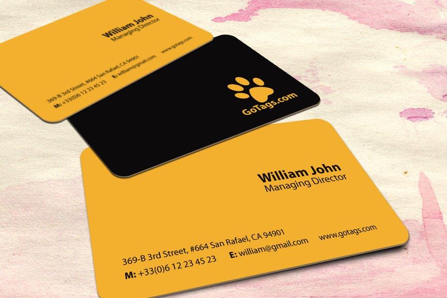 Bài tham dự cuộc thi #                                        34                                      cho                                         Business Card Design for GoTags.com LLC