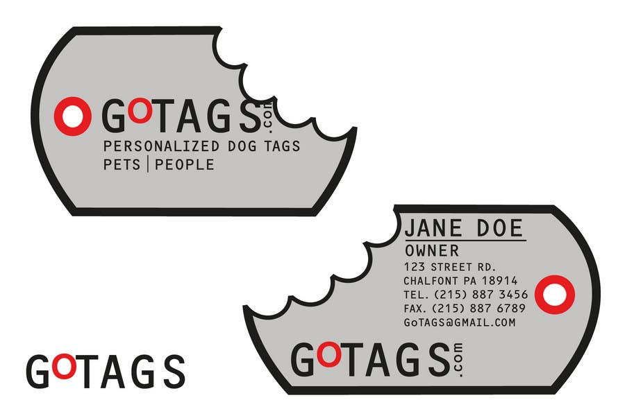 Bài tham dự cuộc thi #                                        35                                      cho                                         Business Card Design for GoTags.com LLC