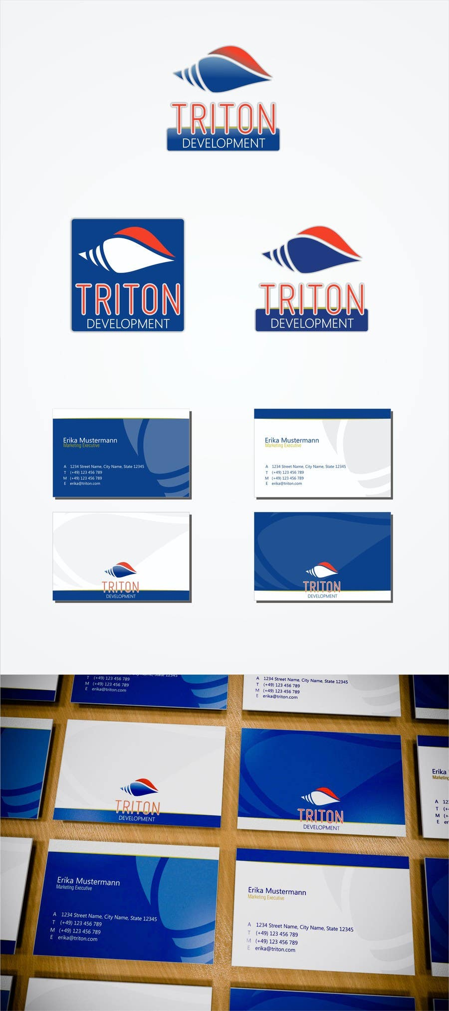 #209 for Design some Business Cards for Triton by walkingprimate
