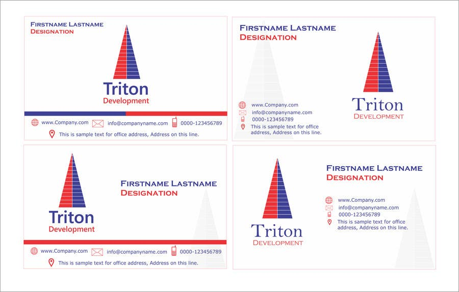 #208 for Design some Business Cards for Triton by ArtCulturZ