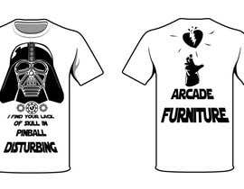 #32 untuk Design a T-Shirt for Arcade Furniture mixing pinballs with metal or religion, or whatever you want! oleh CaptaiN64