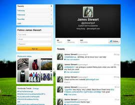 nº 20 pour Design a Twitter background for JStewartgolf par OnpointJamie