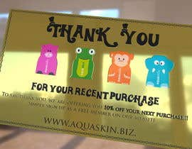 #31 for Design a one side voucher for AQUASKIN... by rogeriolmarcos