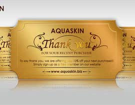 #33 for Design a one side voucher for AQUASKIN... by Artimization