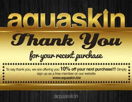 #15 for Design a one side voucher for AQUASKIN... af Mimi214