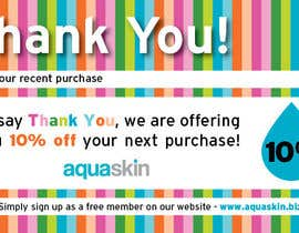 #29 untuk Design a one side voucher for AQUASKIN... oleh gaborhavasi