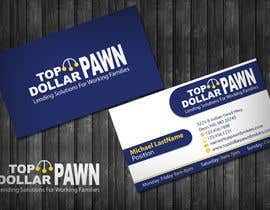 #192 untuk Business Card Design for Top Dollar Pawnbrokers oleh topcoder10