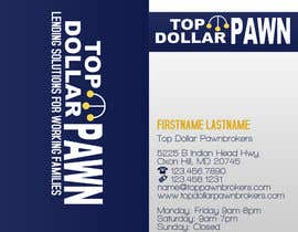 #103 untuk Business Card Design for Top Dollar Pawnbrokers oleh JoleenC