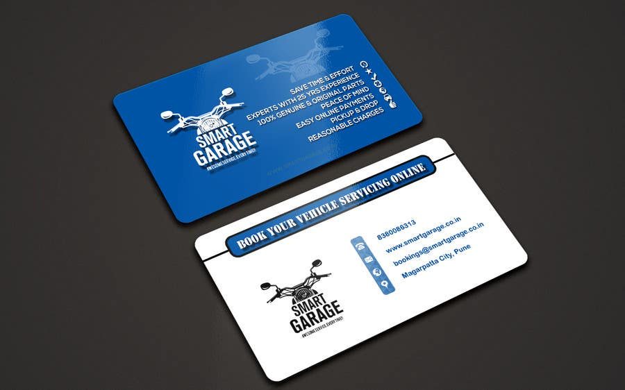 Entry #6 by friendsclub512 for Design business card for garage ...