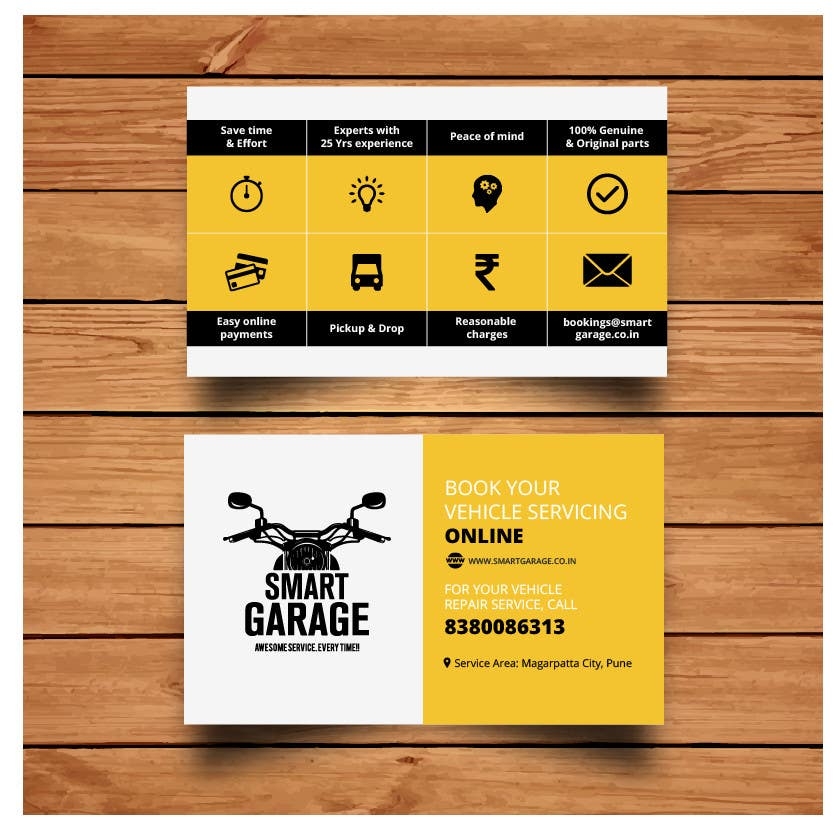 Entry #11 by hussainali96 for Design business card for garage ...