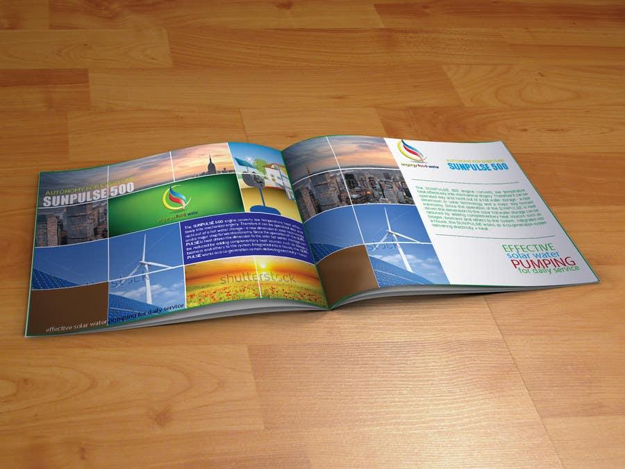 design of a brochure. autarkic energie. solar için 5 numaralı Yarışma Girdisi