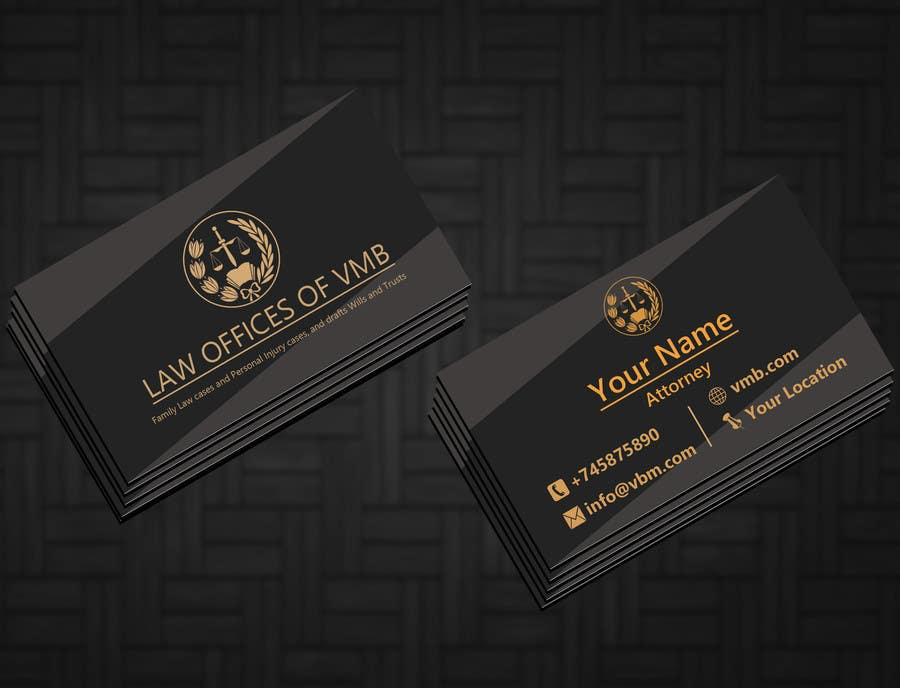 Entry #78 by fsfahim1000 for Business Cards for an American Law Firm ...