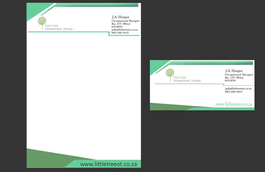 Entry 22 By Iamplexus For Design A Letterhead And Business Card Occupational Therapy
