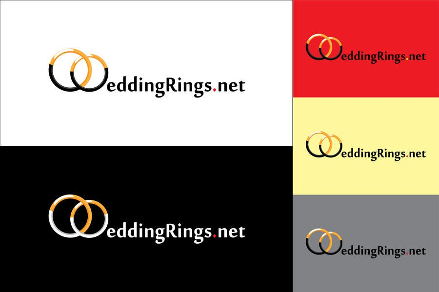 Kilpailutyö #                                        47                                      kilpailussa                                         Logo Design for WeddingRings.net (yes, this is our company name)