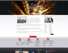 #41 cho Design a Website Mockup for Utah Fabrication bởi MagicalDesigner