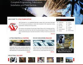 #18 for Design a Website Mockup for Utah Fabrication af suryabeniwal