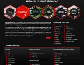 #28 cho Design a Website Mockup for Utah Fabrication bởi aleksejspasibo