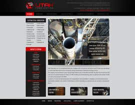 #19 for Design a Website Mockup for Utah Fabrication af designBox16