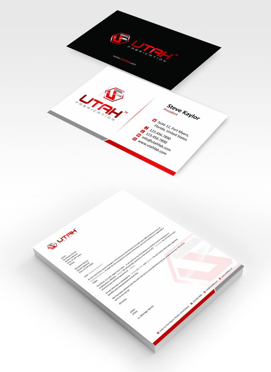 Design some Business Cards & Letterhead for Utah Fabrication ...